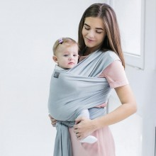 Stretchy baby wrap - Silver