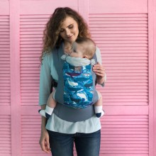 DLight ergonomic baby carrier - Whales